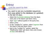 entrez limit the search by date
