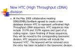 new htc high throughput cdna division