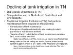 decline of tank irrigation in tn
