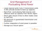 grid management of fluctuating wind power