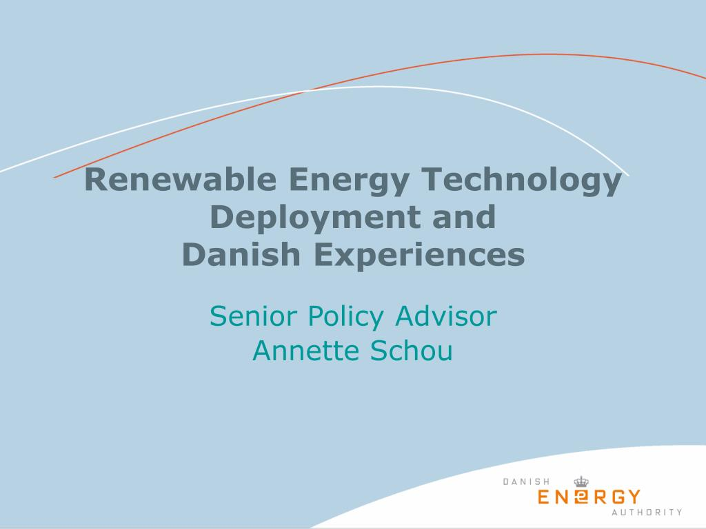 renewable energy technology deployment and danish experiences l.