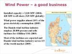 wind power a good business