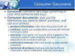 consumer documents
