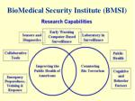 biomedical security institute bmsi