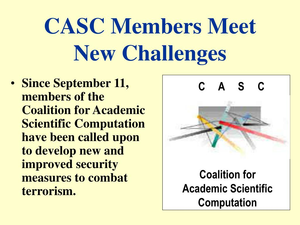 casc members meet new challenges l.