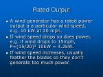 rated output