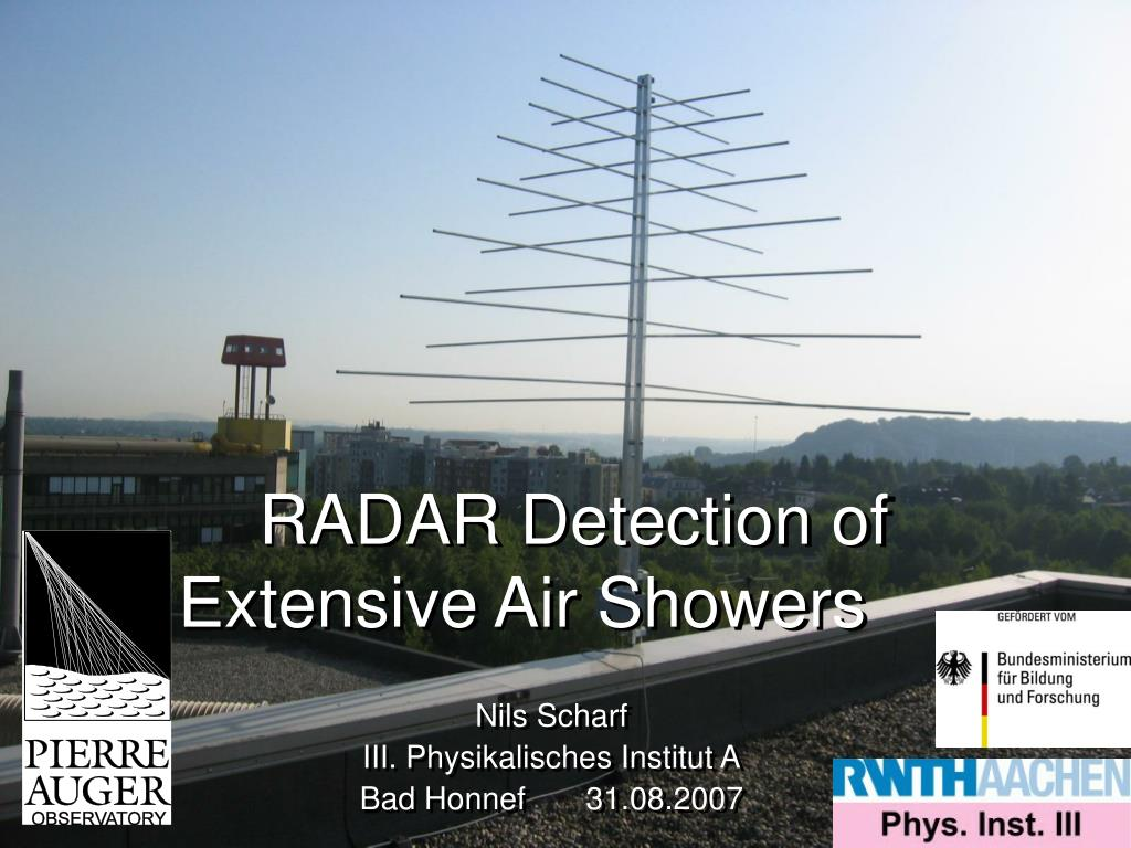 radar detection of extensive air showers l.