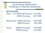 clean energy deployment challenges to maintain momentum14