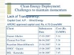clean energy deployment challenges to maintain momentum20