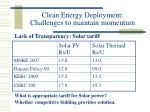 clean energy deployment challenges to maintain momentum24