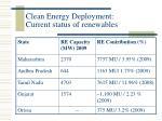 clean energy deployment current status of renewables