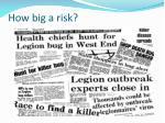 how big a risk