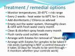 treatment remedial options