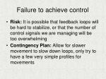 failure to achieve control