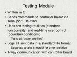 testing module