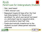 plus parent loan for undergraduate students