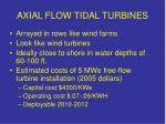 axial flow tidal turbines