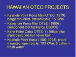 hawaiian otec projects