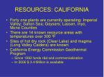 resources california