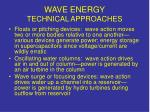 wave energy technical approaches