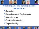 what impacts the development of respect