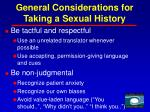 general considerations for taking a sexual history15