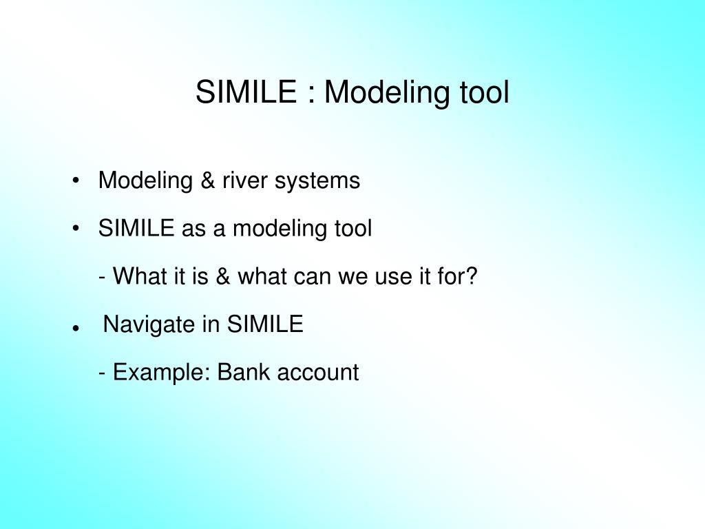 simile modeling tool l.