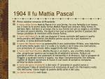 1904 il fu mattia pascal