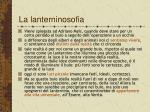 la lanterninosofia