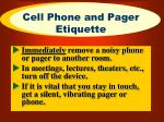 cell phone and pager etiquette