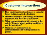 customer interactions