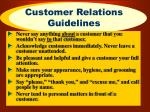 customer relations guidelines