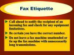 fax etiquette