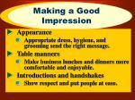 making a good impression