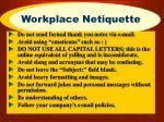 workplace netiquette
