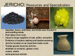 jericho resources and specialization