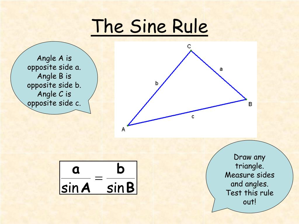 the sine rule l.