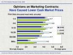 opinions on marketing contracts have caused lower cash market prices