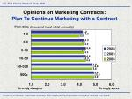 opinions on marketing contracts plan to continue marketing with a contract