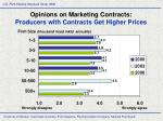 opinions on marketing contracts producers with contracts get higher prices