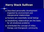 harry stack sullivan