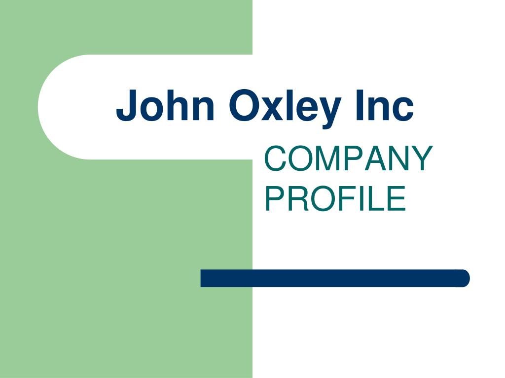 john oxley inc l.