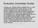 evaluation committee quotes