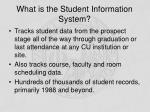 what is the student information system