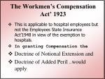 the workmen s compensation act 1923