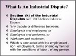 what is an industrial dispute