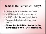 what is the definition today