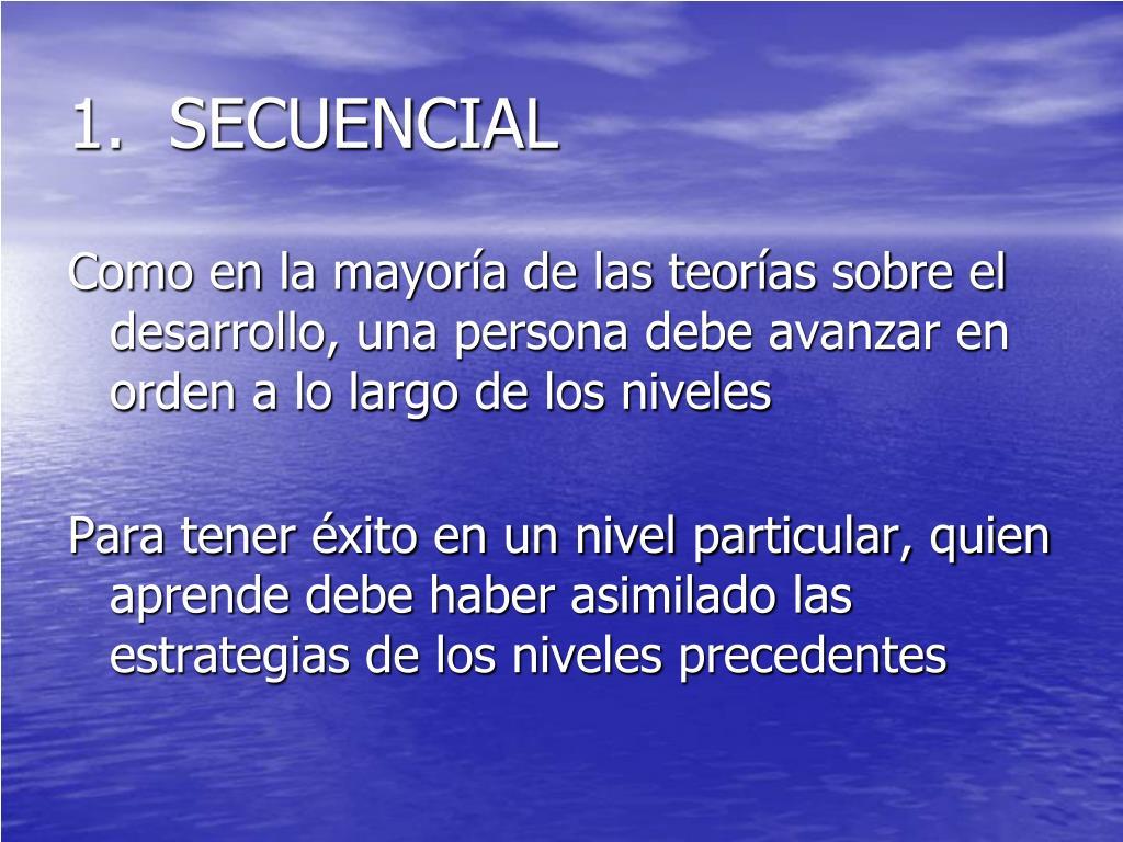 1.  SECUENCIAL