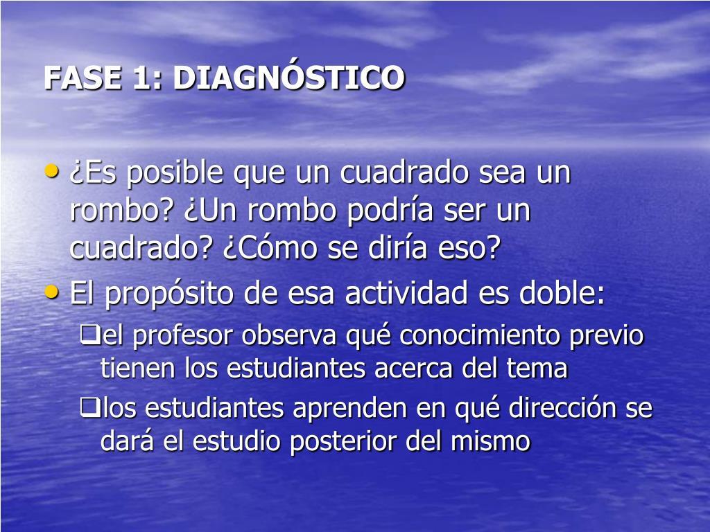 FASE 1: DIAGNÓSTICO