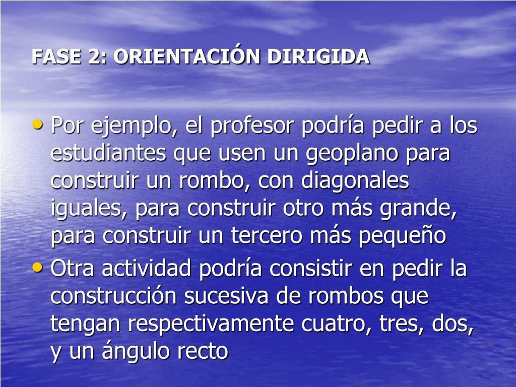 FASE 2: ORIENTACIÓN